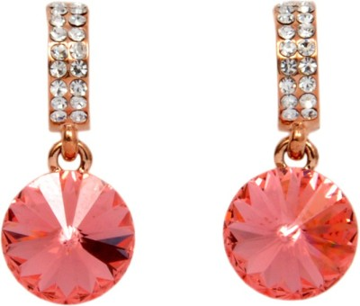 Royal Silver and Pink Alloy Dangle Earring