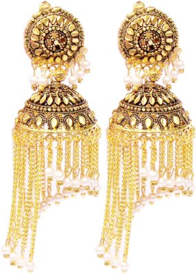 Triumphin Spring Shower Amber Copper Jhumki Earring