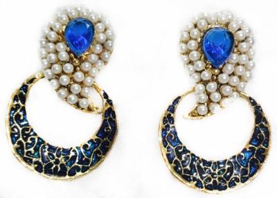 SB Fashions navy blue pearl earring Brass Earring Set