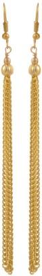 Heartzy Gold Plated Designer Long Chain Earrings Alloy Drop Earring