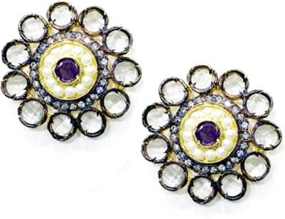 E-Designs ERG63GP140-1132 Cubic Zirconia Alloy Stud Earring