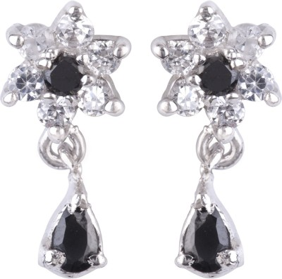 DD Pearls Love Forever Cubic Zirconia Sterling Silver Drop Earring