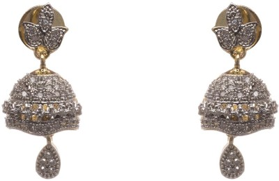 LAHARI ENTERPRISES STYLE Diamond Alloy Jhumki Earring