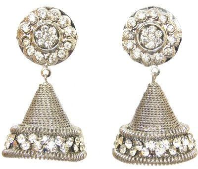 Red Gold Festive26 Metal Jhumki Earring