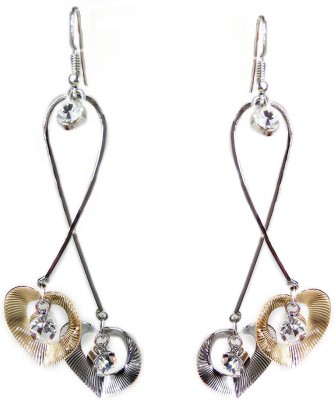 000 Fashions Multi Colour Streched Love shaped crystal Alloy Dangle Earring