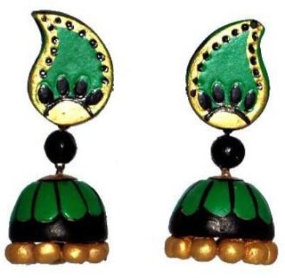 Aanya Creations Beadwork Ceramic Jhumki Earring
