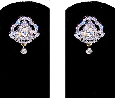 Jewels Kafe American Diamond Alloy Drop Earring