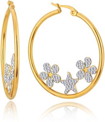 Alamod ALER 5035 Cubic Zirconia Brass Huggie Earring