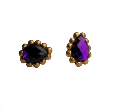 Make My Jhumkas The Royal Violet Paper Stud Earring