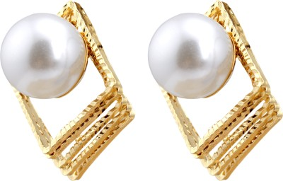 Brandmeup Square 3D Alloy Stud Earring