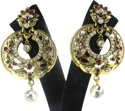 Tradeyard Impex Attractive Cubic Zirconia Alloy Chandbali Earring