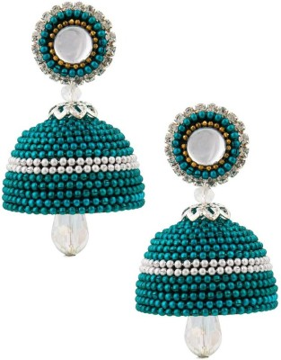 Jaipur Raga Awesome Look Hancrafted Ball Chain Jhumka Brass Jhumki Earring