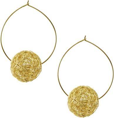 TwishQ Handmade Brass Hoop Earring