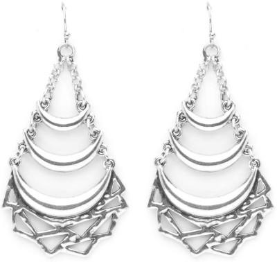 Madclozet Crescent Moon Metal Dangle Earring