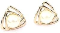 Girlz! Pearl Golden Traingle Classic Alloy Stud Earring