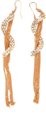 Trinklets Chic Gold Metal Dangle Earring