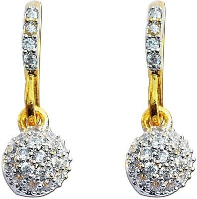 Enzy Daily Wear Gold Plated Cz Alloy Hoop Earring