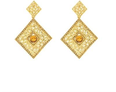 Art Nouveau Antiquer Design Brass Chandelier Earring