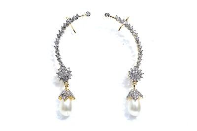 Taj Jewels Drop Delight Copper Cuff Earring