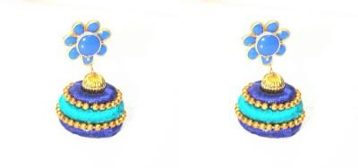 Craftworks handmade earring Silk Dori Jhumki Earring