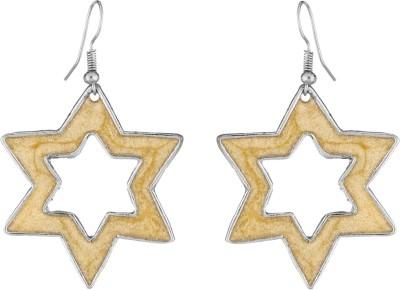 Craft Mandi Diamond Shape Metal Dangle Earring