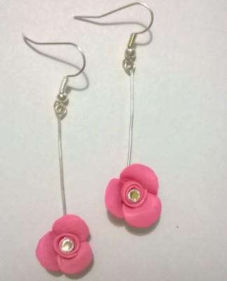 Craffiti Flower Clay Ceramic Dangle Earring