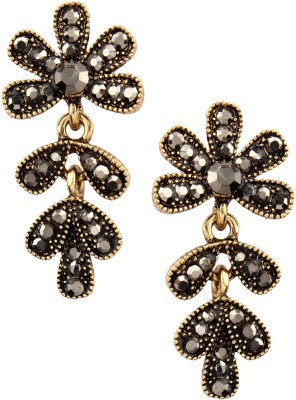 20Dresses Black Gold Metal Drop Earring