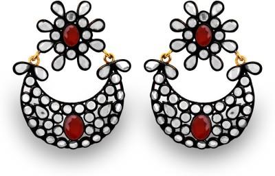 SuvidhaArts Designer Fashion Cubic Zirconia Metal Chandelier Earring