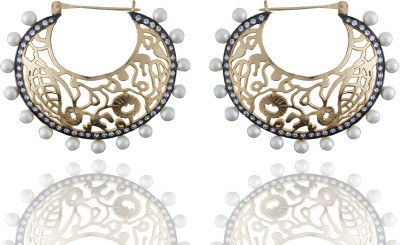 Chaahat Fashion Jewellery Beautiful And Simple Cubic Zirconia Copper Chandbali Earring