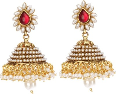 Rays KJM415 Pearl Copper Jhumki Earring