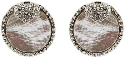 Saashis Closet Mother Pearl Alloy Stud Earring