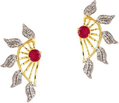 Prita Floral American Diamond Alloy Cuff Earring