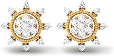 P.N.Gadgil Jewellers Whirling Yellow Gold 18kt Diamond Stud Earring at flipkart