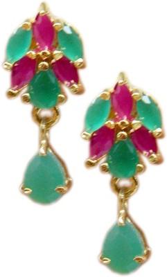 E-Designs TOP76GJ105-375 Cubic Zirconia Brass Drop Earring