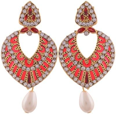 Grandiose Gold Plate Earrings Copper Dangle Earring