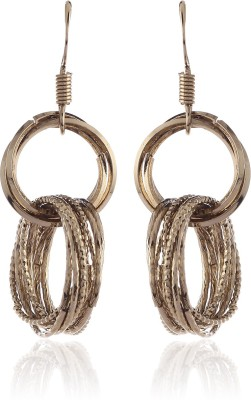 Thingalicious Interlinked Multi Rings Alloy Dangle Earring