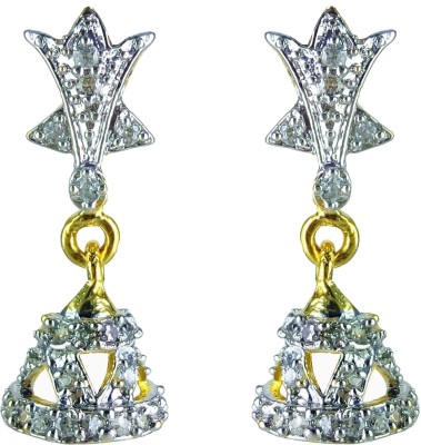 YUVEN Drop Zircon Brass, Alloy Drop Earring