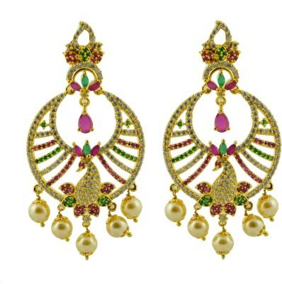 Maalyaa AD EARRINGS Brass, Copper Drop Earring