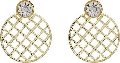 Niara White Diamond Round Metal Chandelier Earring