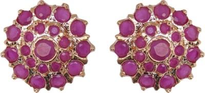 Janki Jewellers Fancy Flower Cubic Zirconia Alloy Stud Earring