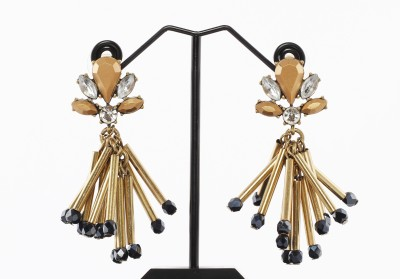 Rudrani Tassel Gold Alloy Drop Earring