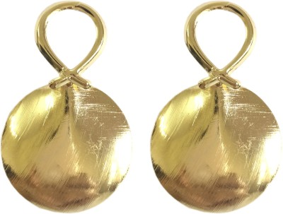 Adrisya Adrisya Gold Disc Alloy Drop Earring