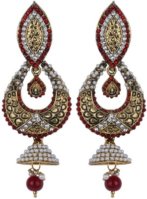 Sale Funda Ethnic er0019 Pearl, Crystal Alloy Jhumki Earring
