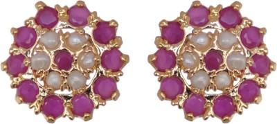 Janki Jewellers Fantastic Cubic Zirconia Alloy Stud Earring