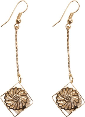 Medallion Collection Hangings Brass, Copper Dangle Earring