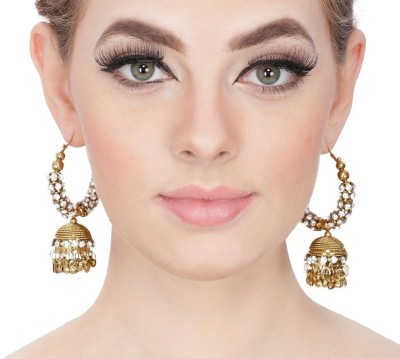 Kauberi Jewels Glorious Brass Drop Earring
