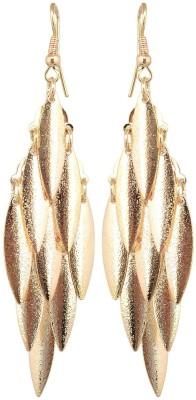 Golden Petals Shine V Alloy Dangle Earring