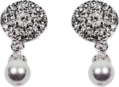 Percias Pearl Brass Drop Earring