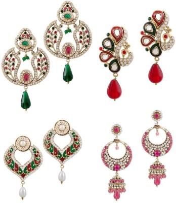 Buyclues RCCJ3414 Crystal Brass Earring Set
