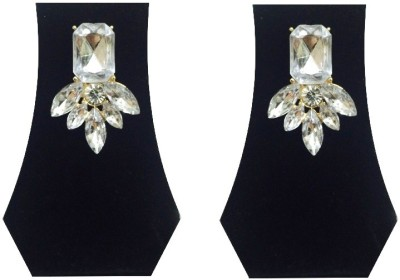 FashBlush Forever New Glam Crystal Leaf Glitter Alloy Stud Earring